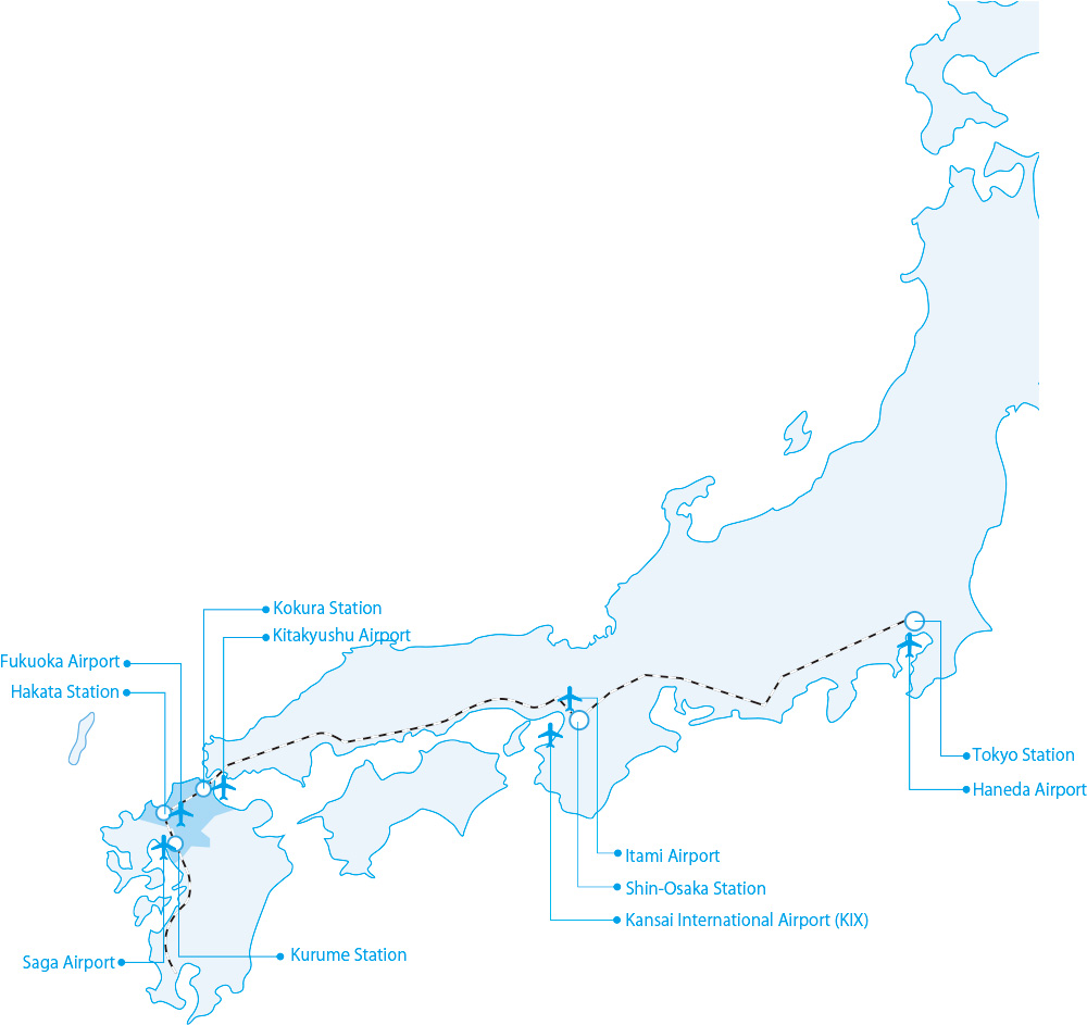 Access map to Fukuoka prefecture